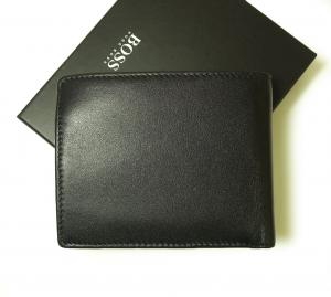 No.2 財布 メンズ スムースレザー 二つ折(ブラック)