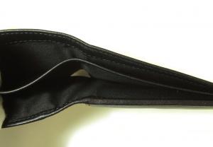 No.6 財布 メンズ スムースレザー 二つ折(ブラック)
