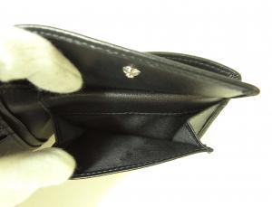 No.7 財布 メンズ スムースレザー 二つ折(ブラック)