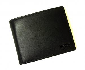 No.8 財布 メンズ スムースレザー 二つ折(ブラック)
