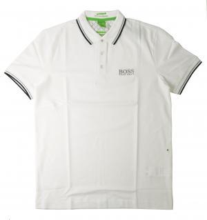 ヒューゴ・ボス ポロシャツ ボスグリーン Sサイズ PADDY ゴルフ用 (ホワイト)