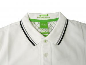 No.3 ポロシャツ ボスグリーン Sサイズ PADDY ゴルフ用 (ホワイト)