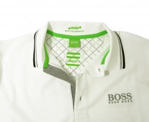 No.7 ポロシャツ ボスグリーン Sサイズ PADDY ゴルフ用 (ホワイト)