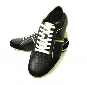 ヒューゴ・ボス スニーカー 靴 シューズ BOSS GREEN レザー VICTOIRE LA (ブラック) 43(日本サイズ約26.5cm)