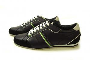 No.3 スニーカー 靴 シューズ BOSS GREEN レザー VICTOIRE LA (ブラック) 43(日本サイズ約26.5cm)
