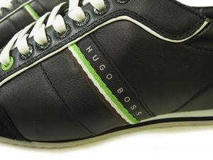 No.4 スニーカー 靴 シューズ BOSS GREEN レザー VICTOIRE LA (ブラック) 43(日本サイズ約26.5cm)