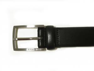 No.3 ベルト メンズ 牛革 ビジネス フォーマル BARNEY (ブラック) 80cm