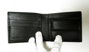 No.3 財布 メンズ BATTUE ORIGIN 二つ折 (ブラック)