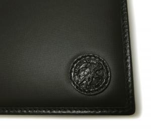 No.8 財布 メンズ BATTUE ORIGIN 二つ折 (ブラック)