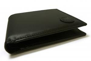 No.9 財布 メンズ BATTUE ORIGIN 二つ折 (ブラック)