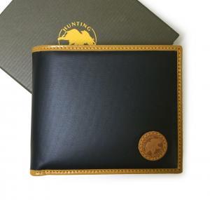 ハンティングワールド 財布 バチュー BATTUE ORIGIN 二つ折 (ネイビー×ナチュラル)