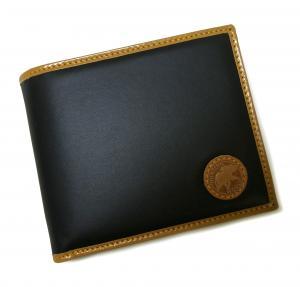 No.8 財布 バチュー BATTUE ORIGIN 二つ折 (ネイビー×ナチュラル)