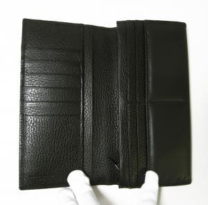 No.4 長財布 メンズ BATTUE ORIGIN 二つ折 (ブラック)