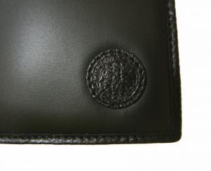 No.7 長財布 メンズ BATTUE ORIGIN 二つ折 (ブラック)