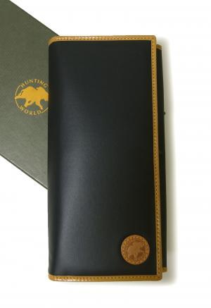 ハンティングワールド 長財布 BATTUE ORIGIN 二つ折 (ネイビー×ナチュラル)