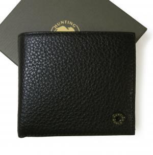 ハンティングワールド 財布 メンズ 二つ折 KASHGAR (ブラック)