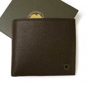 ハンティングワールド 財布 メンズ 二つ折 KASHGAR (ダークブラウン)