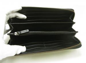 No.4 長財布 ラウンドファスナー KASHGAR (ブラック)
