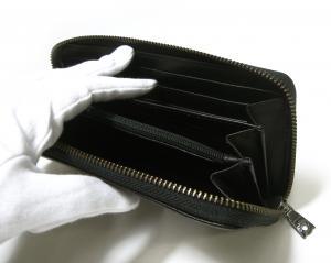 No.6 長財布 ラウンドファスナー KASHGAR (ブラック)