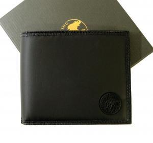 ハンティングワールド メンズ 二つ折財布 札入れ (ブラック)*小銭入れなし