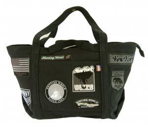 ハンティングワールド バッグ トート ショルダー DOG PATCH ワッペン(ブラック)