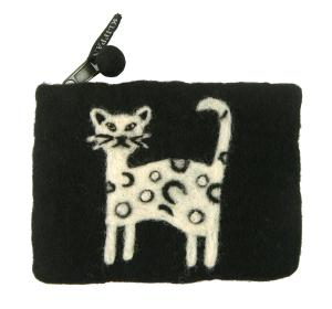 クリッパン ポーチ 北欧 スウェーデン フェルトウール Cat ネコ 猫
