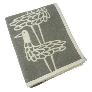 クリッパン ブランケット おしゃれ 綿 オーガニックコットン シェニール 北欧  SHORE BIRDS 140×180cm