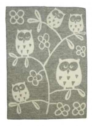 クリッパン ブランケット ひざ掛け おしゃれ ウール 北欧 TREE OWL ふくろう フクロウ 65×90cm