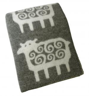 クリッパン ブランケット ウール シングル 暖かい 毛布 北欧 SHEEP 羊 130×180cm