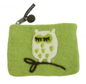 クリッパン ポーチ 北欧 スウェーデン TREE OWL ふくろう フクロウ イエローグリーン