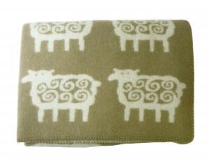 クリッパン ブランケット ウール ハーフケット SHEEP 羊 北欧 90×130cm