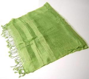 カイシルク ストール  シルク  (ライトグリーン)