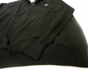 No.7 LACOSTE スーピマ・コットンプルオーバー(ブラック)