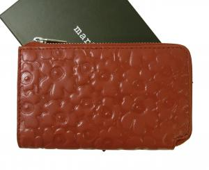 マリメッコ 財布 カードケース レザー L字ファスナー NILLA レッド