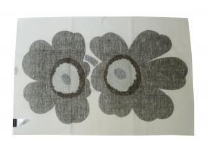 No.4 ティータオル キッチンタオル Unikko ウニッコ ホワイト×ブラック