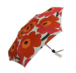マリメッコ 傘 折り畳み カサ Pieni Unikko ウニッコ ホワイト×レッド