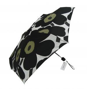 マリメッコ 傘 折り畳み カサ Pieni Unikko ウニッコ ホワイト×ブラック