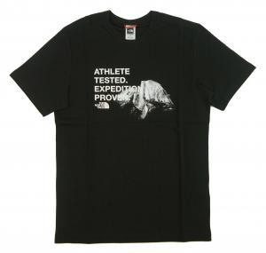 ザノースフェイス Tシャツ メンズ ブラック 綿 Graphic Tee