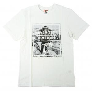 ザノースフェイス Tシャツ メンズ ホワイト 綿 Graphic Tee