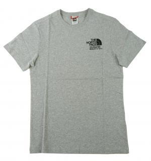 ザノースフェイス Tシャツ メンズ ライトグレーヘザー 綿 Graphic Tee