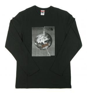 ザノースフェイス Tシャツ  ロンT メンズ ブラック 長袖 綿 Graphic Tee