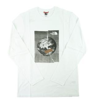 ザノースフェイス Tシャツ ロンT メンズ ホワイト 長袖 綿 Graphic Tee