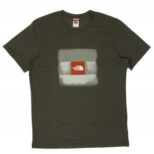 ザノースフェイス Tシャツ メンズ グレー コットン 綿 Cel Easy Te
