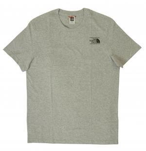 ザノースフェイス Tシャツ メンズ ライトグレー コットン 綿 Mnt Exp Te