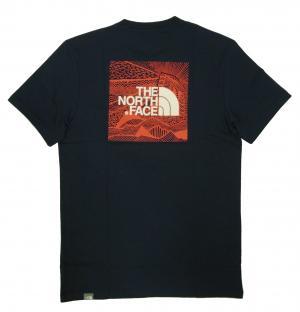 No.3 Tシャツ メンズ ネイビー 綿 レッドボックス Redbox Cel Te