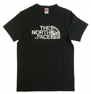 ザノースフェイス Tシャツ メンズ ブラック 綿 Woodcut Dome Tee ウッドカットドーム