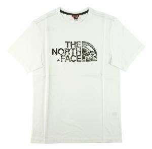 ザノースフェイス Tシャツ メンズ ホワイト 白 綿 Woodcut Dome Tee ウッドカットドーム