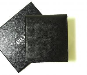 No.2 財布 サフィアノレザー 二つ折 (ブラック)
