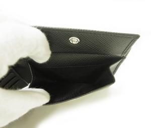 No.5 財布 サフィアノレザー 二つ折 (ブラック)