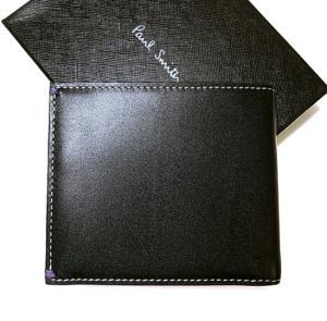 No.3 財布 メンズ二つ折 ブラック/ミニクーパーナイトランガー